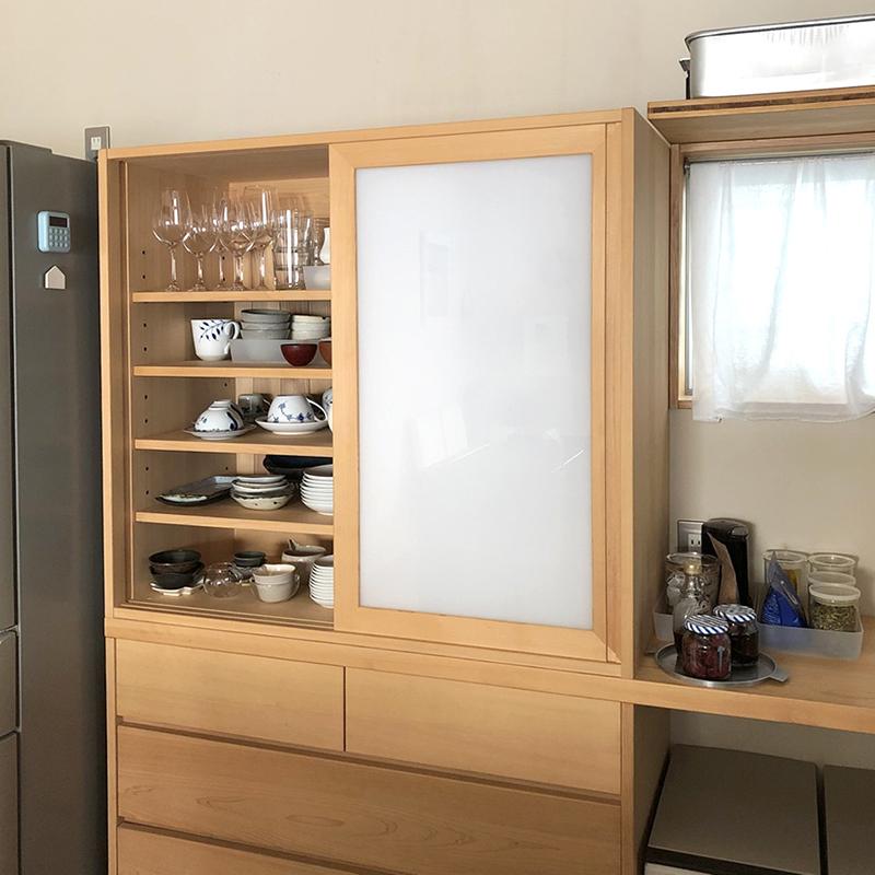ヒノキクラフト 食器棚 クウネルサロン1
