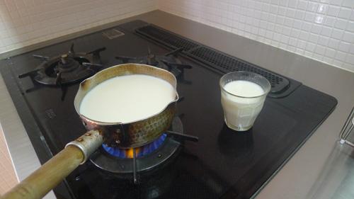 大原牧場のミルク