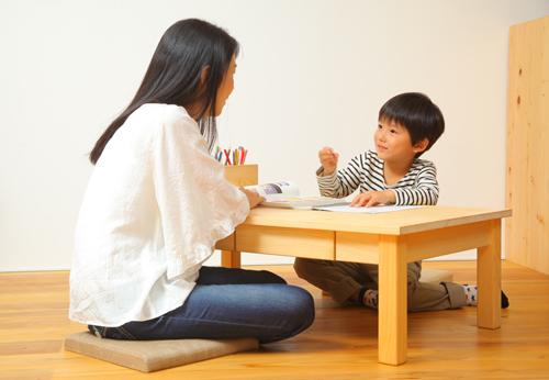 ヒノキ無垢の座卓