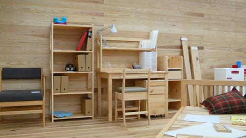 檜の学習机