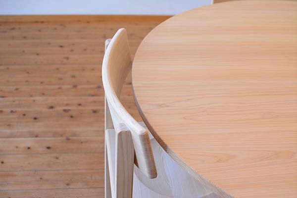 ひのき無垢 Cテーブルセット2