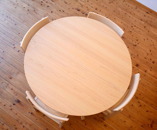 ひのき無垢 Cテーブルセット3