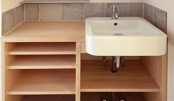 ひのき無垢 洗面台2