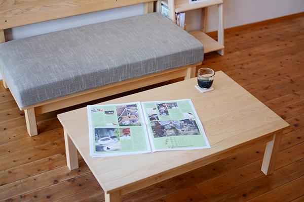 ひのき無垢 リビングデスク テーブル3