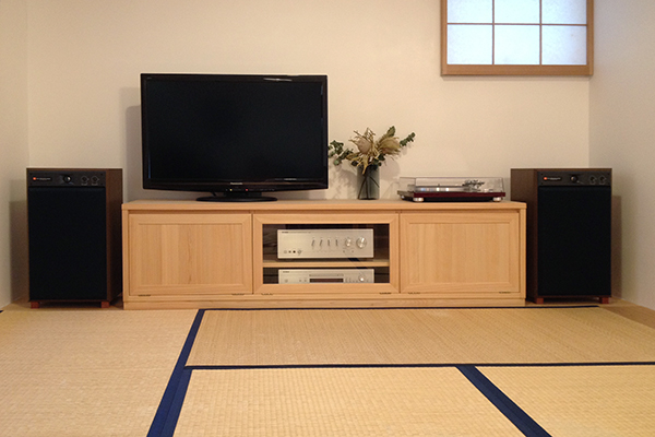 ひのき無垢 オーディオテレビボード1