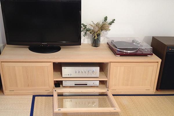 ひのき無垢 オーディオテレビボード2