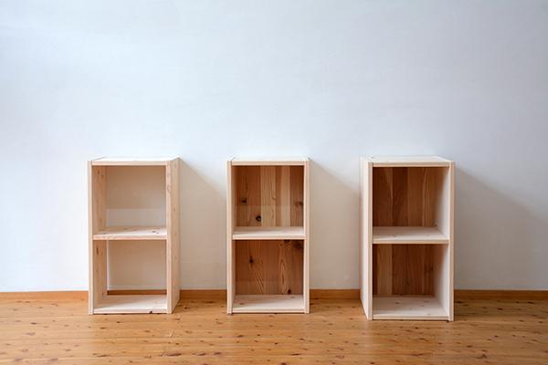 ひのき無垢 森のカタチシリーズ 2段ボックス2