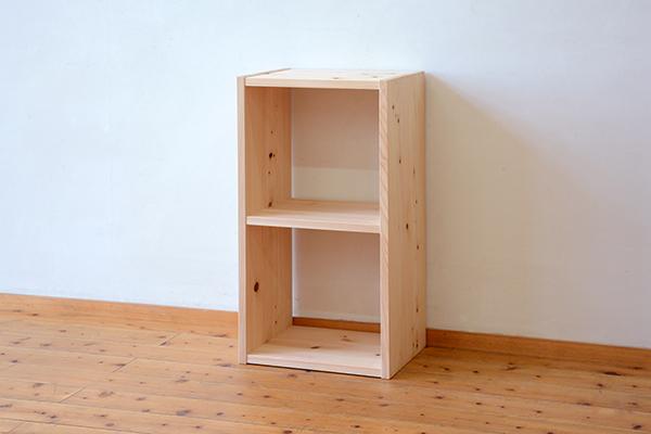 ひのき無垢 森のカタチシリーズ 2段ボックス16