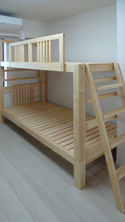 ひのき無垢 2段ベッド1