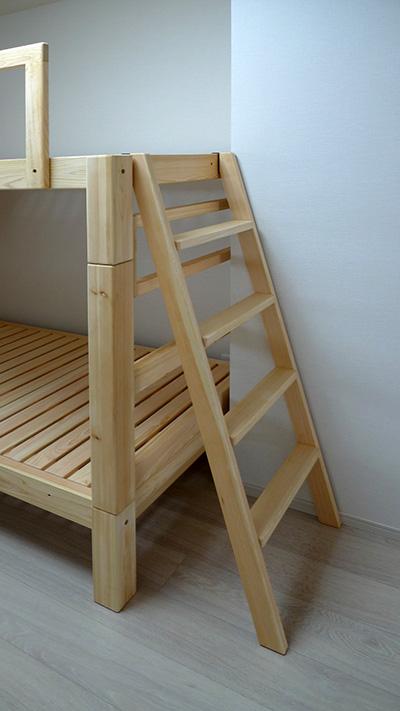 ひのき無垢 2段ベッド2