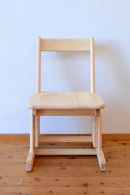 ひのき無垢 高さ調整式学習椅子2