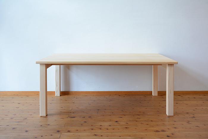 ひのき無垢 幕板無しテーブル1