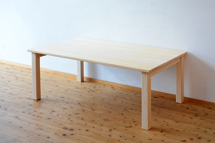 ひのき無垢 幕板無しテーブル4