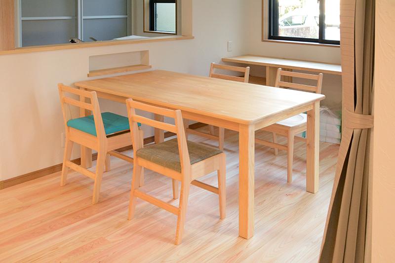 ひのき無垢 テーブルセット2