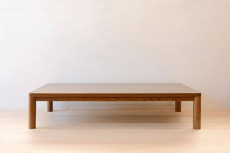 ヒノキクラフト ウォールナットの座卓1