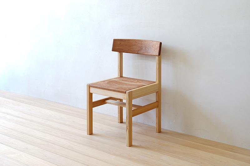 ヒノキクラフト ひのき家具 アールチェア2